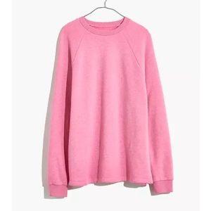 MWL Airyterry Pink Overdyed Oversized Sweatshirt